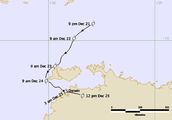 map of Cyclone Tracy