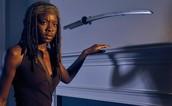 Michonne (actress Dannai Gurria)