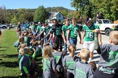 Sports Teams Greet the Elementary Students