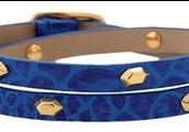 Hudson Leather Wrap, Blue