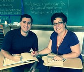A look into a co-taught class with Mrs.  Grandits & Mr. Licata