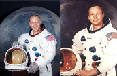 Buzz Aldrin and Neil Armstrong