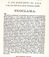 Proclama de la Junta provisional gubernativa de la capital del Río de la Plata del 26 de mayo de 1810.