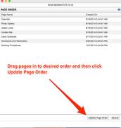 Page Order helps you adjust your Navigation