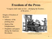 Having a Freedom of the Press
