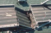 Damage on Bay Bridge
