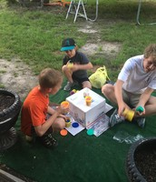 Building the Volcano (with my cousins)