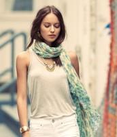 Pastel ikat scarf bnib