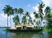 Boat house in Kerala