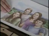 A drawing of the Regan family!