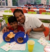 1st Grade Donuts with Dads