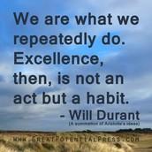 Excellence has no shortcut!