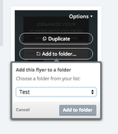 Shortcut for Adding Flyers into folders
