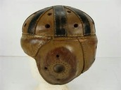 An old time-ish football helmet
