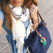Limoncello Woven Wrap   and Tote bag