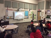 Students at Collegiate Prep Participating in a Video Conference