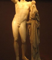 A statue of Hermes at the Archaeological Museum at Ancient Olympia