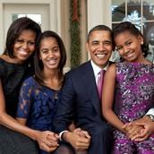 Michelle Obama, Barak Obama, Malia Ann Obama, Sasha Obama