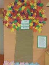 Ms. Lyons Creates Favorite Book Tree