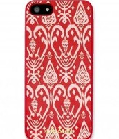 Signature iPhone Case (for iphone 5) in Red Ikat