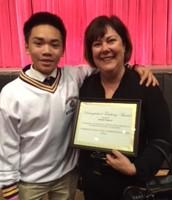 Ms. Simpson with Roman Guintu