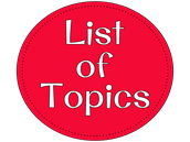 List of Potential Topics