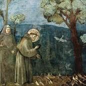 St. Francis Feeding the Birds