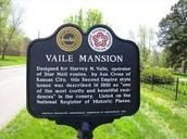The entrance sign to the Vaile Mansion.