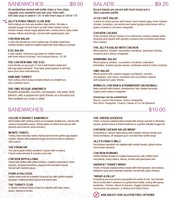 Boxed Lunch Menu