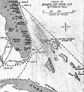 Map of Ponce de Leon's Expeditions