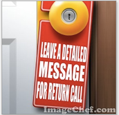 Leave a Detailed message for a return call