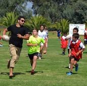 Masiva concurrencia a Tag Rugby y Festival de Atletismo