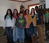 Kaitlyn, me, Seth, my dad, Kim, Hayley, and Justin.