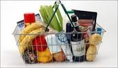 Fui al supermercado y compré comida