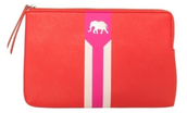 Capri Pouch - Hot Pink & Poppy