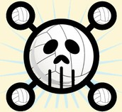 sports-Skeleton Volleyball By Ellie
