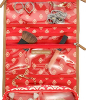 Hang on Travel Bag in Red Ikat -- $19 (interior view)