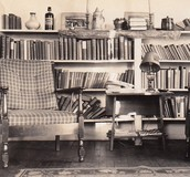Reading room/home library in the 1920's