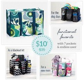 Zip Top Utility Tote for just $10