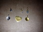 Various Charms in sterling silver and gold vermeil