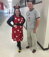 Mrs. Smith and Coach Gober as Mickey and Minnie!