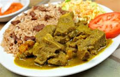 Curry Goat Lunch $8.00 Dinner $11.00