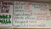 Vocabulary from a Read Aloud