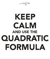 The quadractic formula: