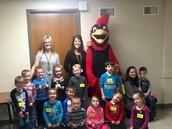 Class Photos with the Davison Cardinal