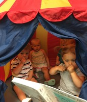 Story time in the tent!