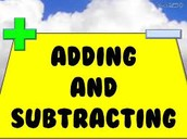 A or S is for Adding and subtracting