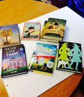 Books donated by Barbara O'Connor for trivia