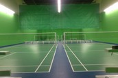 Investigate the badminton court.