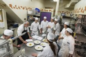 Level 2 Students in Pastry Class